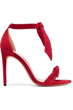 Alexander Birman's sexy suede sandals, featuring cute bows, are perfect for a night out.