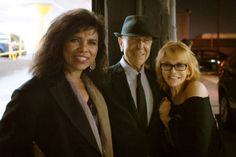 "bootyrockinbiggz: "" Sharon with Leonard Cohen and Ann-Margret after Sharon's show at the Hotel Cafe in Los Angeles. Photo by David Benjamin. From Sharon Robinson's facebook page """