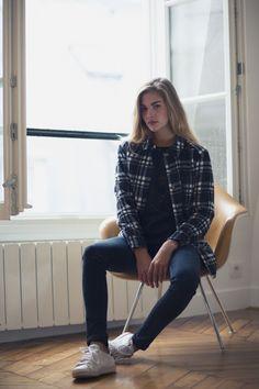 Chemise Ulysse à carreaux noir et blanc || Balzac Paris