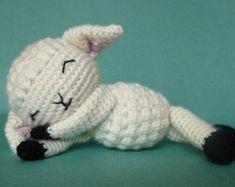 Lamb Amigurumi Pattern Crochet Lamb by MysteriousCats on Etsy Crochet Sheep, Crochet Animals, Crochet Dolls, Crochet Baby, Free Crochet, Amigurumi Patterns, Amigurumi Doll, Crochet Patterns, Little Pigs