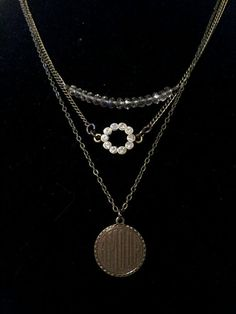 Three Strand Romantic Charm Necklace by Perfectly by PPJewelry, $32.00