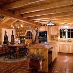 Small Cabins Interiors Best Small Log Cabin Ideas On Small Log Cabin Log Cabin Interior Design Ideas Small Cabin Ideas Designs Log Cabin Kitchens, Log Cabin Homes, Cottage Kitchens, Log Cabins, Cabin Interior Design, Home Interior, House Design, Loft Design, Kitchen Interior