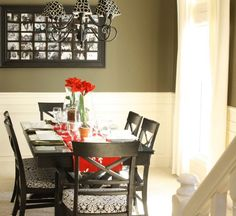 Dining Room Black Dining Set Red Table Mat Chandelier Crystal Glass Flower Vase Eating Utensil Grayscale Potrait Stairs How to Make the Most of Small Dining Room