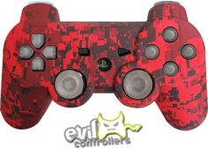 Red Urban PS3 Controller