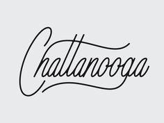 Chattanooga by Nick Slater Chalk Lettering, Watercolor Lettering, Types Of Lettering, Script Lettering, Typography Letters, Brush Lettering, Lettering Design, Branding Design, Logo Design