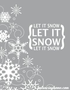 Let it snow printable freebie for project life