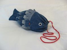 Recycled Denim Fish Pouch
