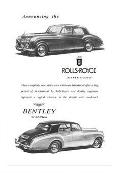 Rolls Royce Bentley Motor Car Autocar Advert 1950s