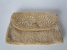 Pearl Clutch Bag 1920s Ivory Beaded Clutches  by WhyWeLoveThePast, $19.50