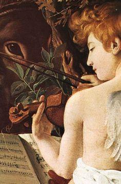 Rest on Flight to Egypt (detail), Caravaggio
