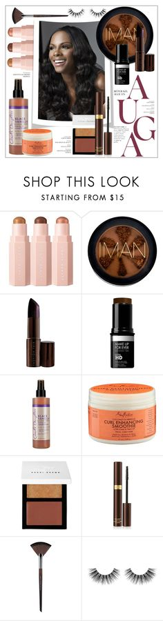"""Fall Beauty"" by frenchfriesblackmg ❤ liked on Polyvore featuring beauty, Iman, Fashion Fair, MAKE UP FOR EVER, Carol's Daughter, Bobbi Brown Cosmetics, Tom Ford and Velour Lashes"