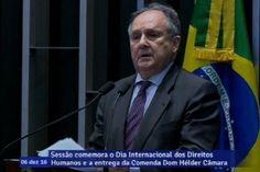 Cristovam Buarque homenageia Dom Hélder Câmara durante sessão para entre...