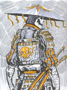 Outside the tomb crystal katana of fire Fantasy Character Design, Character Design Inspiration, Character Concept, Character Art, Concept Art, Samurai Artwork, Samurai Drawing, Ronin Samurai, Samurai Tattoo