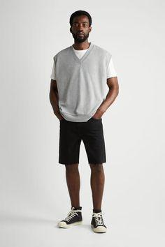 ΒΕΡΜΟΥΔΑ ΝΤΕΝΙΜ - Μαύρο | ZARA Greece / Ελλαδα Bermuda, Denim Shorts, Cotton Fabric, Normcore, Mens Fashion, Zip, Mens Tops, Style, Spain