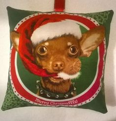 Dog Christmas Gift / Santa Paws Dog Fabric Lavender Bag / Dog Gift - Handmade in Home, Furniture & DIY, Home Decor, Other Home Decor | eBay