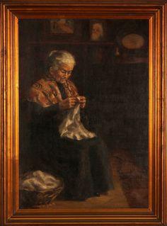 "Retrato ""Senhora a coser"""