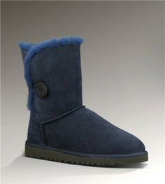 Ugg Bailey Button 5803 Navy Boots [UggBoots150] - $119.00