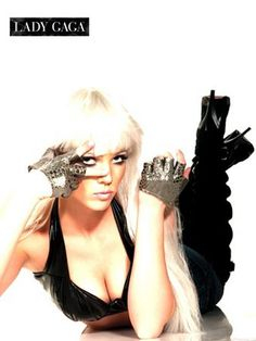 Silver Fingerless Lady Gaga Gloves for Adults
