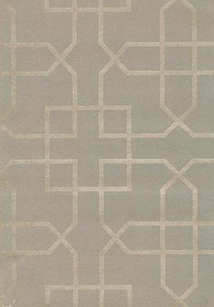 Siam Trellis Wallpaper Grey wallpaper with silver trellis design