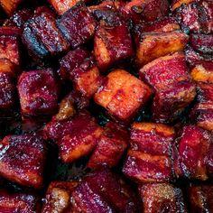 Backyard Kitchen, Backyard Bbq, Kitchen Recipes, Cooking Recipes, Pork Belly Burnt Ends, Pork Sausage Recipes, Honey Recipes, Easy Recipes, Honey Bbq