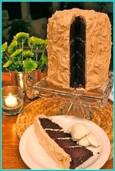 Chocolate cake with salted carmel frosting
