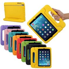 Portable Shockproof Protective Silicone Case With Handle For iPad Mini - Mom…