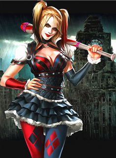 Seeing it is Comic Con weekend, here is my favorite cosplay for the ladies, the fun loving Harley Quinn. Some photos, some comics. All Harley Quinn! Dc Comics, Heros Comics, Comics Girls, Joker Y Harley Quinn, Harley Quinn Cosplay, Batman Arkham Knight, Gotham Batman, Fantasy Warrior, Fantasy Girl