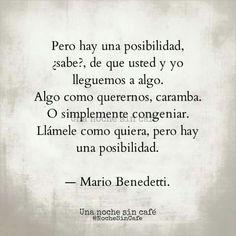 Una posibilidad...Mario Benedetti