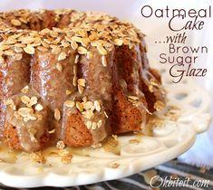 Oatmeal Cake..with Brown Sugar Chobani Glaze