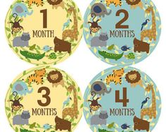 FREE GIFT Tribal Monthly Baby Stickers Boy Baby Month от ModishCC