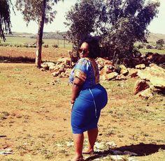 African  chic  posing