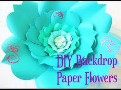Como hacer flores de papel enrolladas. - YouTube