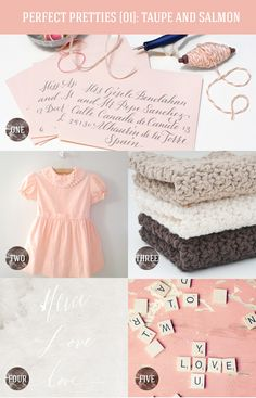 Perfect Pretties {01}: Taupe and Salmon Pink via The Happy Hands Project