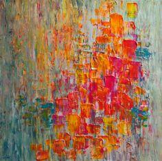 gorgeous acrylic painting with lemon, fuchsia, teal, tangerine orange. unfortunately art Action Painting, Painting & Drawing, Acrylic Art, Painting Techniques, Love Art, Painting Inspiration, Amazing Art, Modern Art, Art Projects