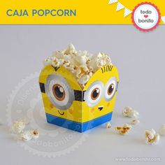Minions: cajita popcorn