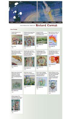 You can buy Richard's work off his website. Artist Profile, Australian Artists, New Words, It Works, Website, Gallery, Stuff To Buy, Life, Roof Rack