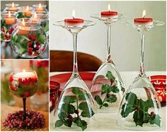 Christmas Wine Glass Centrepieces Wonderful DIY Fantastic Wine Glass Centerpieces