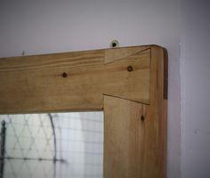 handmade #square #mirror in #solid #natural #wood by #MarcWoodJoinery #UK…