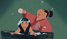 Although Mulan looks miserable, the way those products cascade down her hair is oh-so-wonderful.   The 25 Most Satisfying Beauty Moments In Disney Films