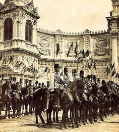 Ottoman Cavalry at Dolmabahçe Palace, Istanbul, 1912
