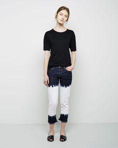 Isabel Marant Étoile / Golda Crewneck Tee Isabel Marant Étoile / Pradley Dyed Jeans #ps14 #ss14