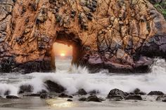 Sun Portal - Big Sur. How we see #portals - something beautiful that can take you anywhere.
