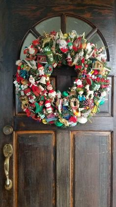 Vintage Heirloom Christmas Ornament Wreath Colorful 25