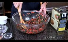 No-Cook Puttanesca Sauce~Great for summer or winter, this Puttanesca mix comes together like clockwork thanks to Mary Martini of Central Market.