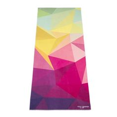 The Geo Hot Yoga Towel by Yoga Design Lab. Mat-sized, Lightweight, Insanely Absorbent, Non-slip, Non-fade, Microfiber Yoga Towel That Dries in Minutes. Printed w/ Water Based Eco-Friendly Inks. 72 x 24. Money Back Guarantee. Yoga Design Lab