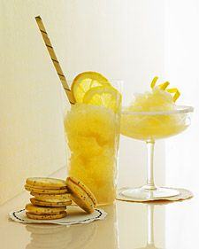 Frozen ginger lemon drop. With or without vodka. This is your summertime cocktail. So good!