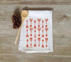 Arrow Tea Towel  Harvest Arrows Flour Sack Screen by KitchStudios
