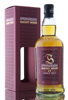 New from Springbank distillery is this cask strength sherry wood release. Distilled in 1997, this wonderful limited editon Campbeltown malt has been created from whisky aged for 17 years in a combination of fresh & refill sherry butts & hogsheads. Bottled in 2015 at 52.3% vol. Good Whiskey, Scotch Whiskey, Bourbon Whiskey, Springbank Whisky, Whisky Jack, Alcohol Spirits, Single Malt Whisky, Distillery, Cigars