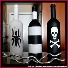Dollar Store Crafter: 3 Halloween Themed Decorative Wine Bottles