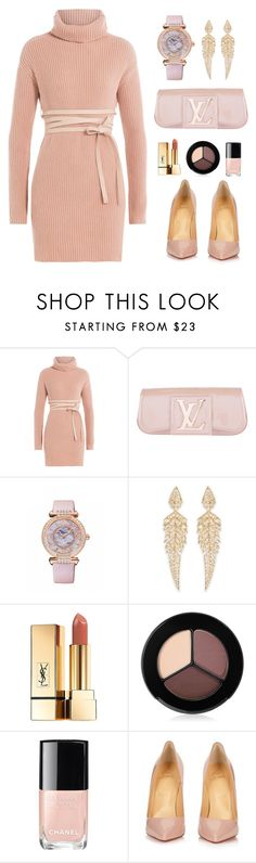 """Sleek n Sheek"" by sleeknsheek ❤ liked on Polyvore featuring Valentino, Louis Vuitton, Chopard, Stephen Webster, Yves Saint Laurent, Smashbox, Chanel and Christian Louboutin"